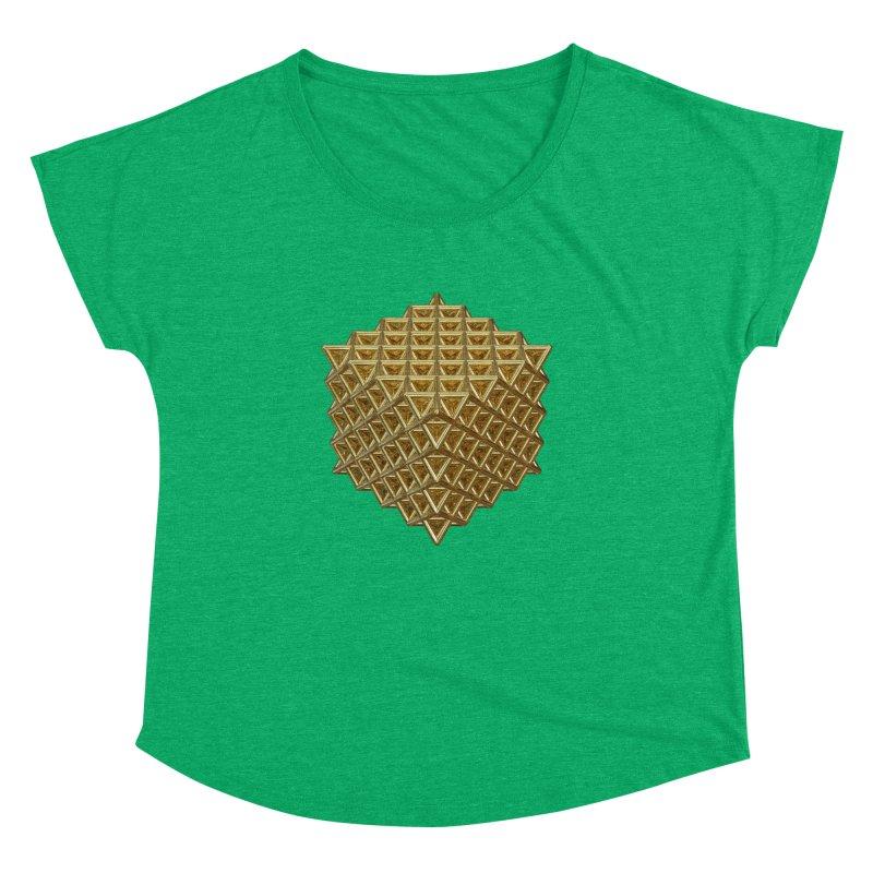 512 Tetrahedron Gold Women's Dolman Scoop Neck by diamondheart's Artist Shop