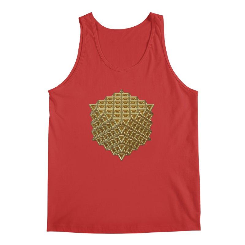 512 Tetrahedron Gold Men's Regular Tank by diamondheart's Artist Shop