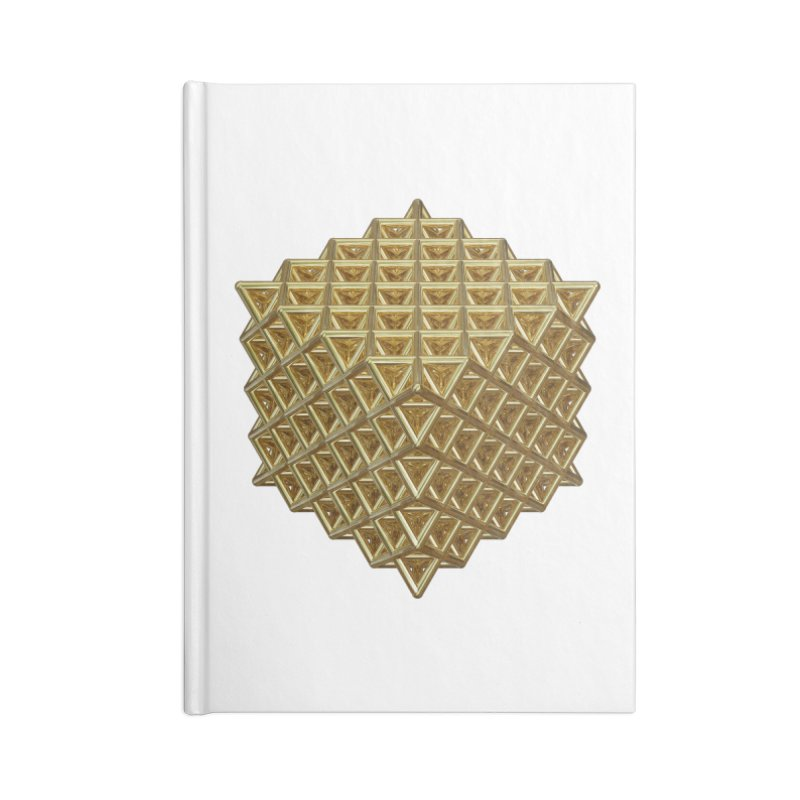 512 Tetrahedron Gold Accessories Blank Journal Notebook by diamondheart's Artist Shop
