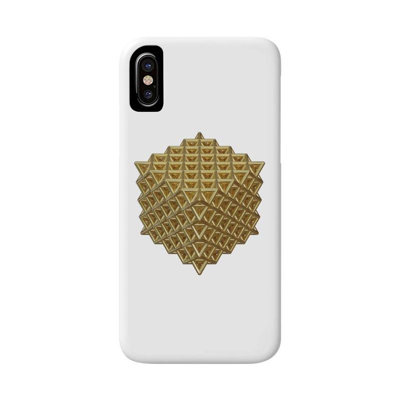 512 Tetrahedron Gold Accessories Phone Case by diamondheart's Artist Shop