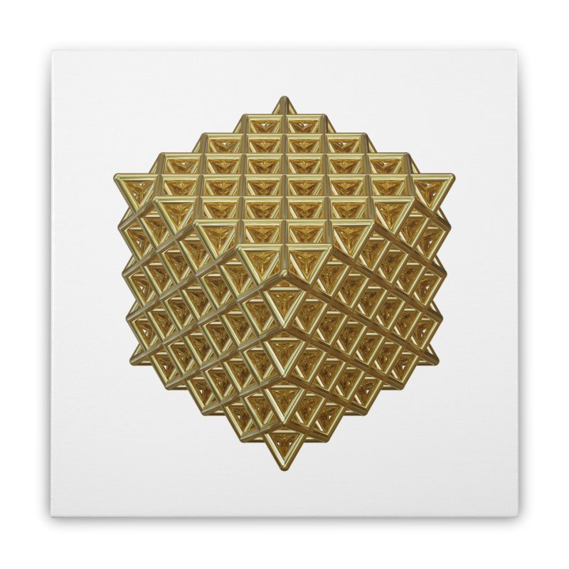 512 Tetrahedron Gold Home Stretched Canvas by diamondheart's Artist Shop