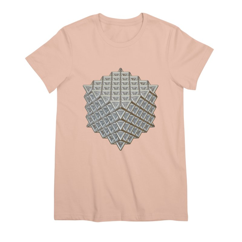 512 Tetrahedron Silver Women's Premium T-Shirt by diamondheart's Artist Shop