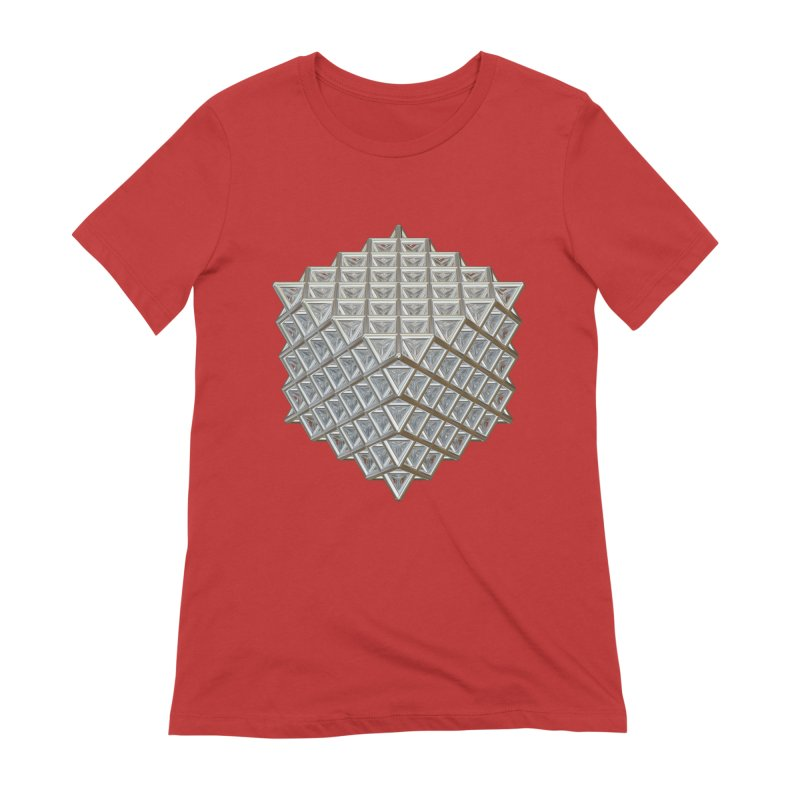 512 Tetrahedron Silver Women's Extra Soft T-Shirt by diamondheart's Artist Shop