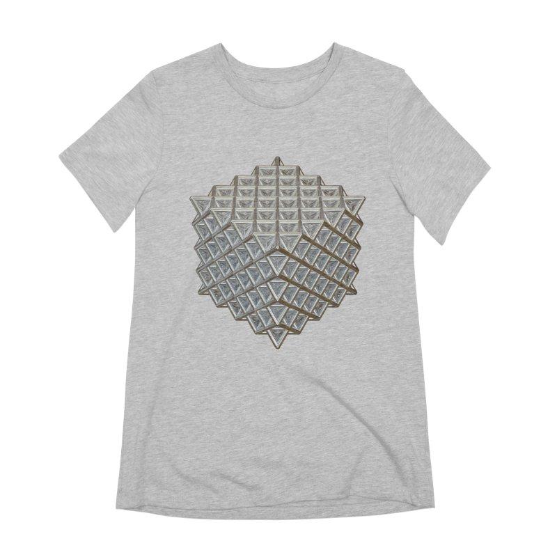512 Tetrahedron Silver Women's Extra Soft T-Shirt by diamondheart's Artist Shop