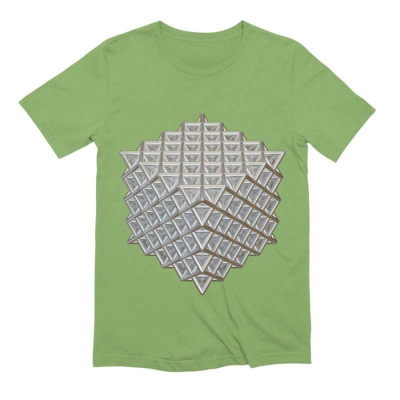 512 Tetrahedron Silver Men's Extra Soft T-Shirt by diamondheart's Artist Shop