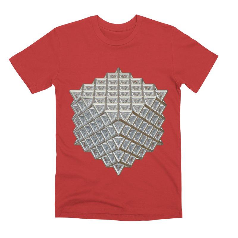 512 Tetrahedron Silver Men's Premium T-Shirt by diamondheart's Artist Shop