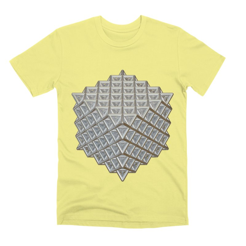 512 Tetrahedron Silver Men's Premium T-Shirt by diamondheart's Artist Shop
