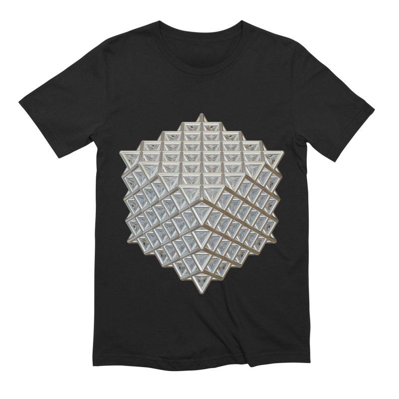 512 Tetrahedron Silver Men's Extra Soft T-Shirt by diamondheart's Artist Shop