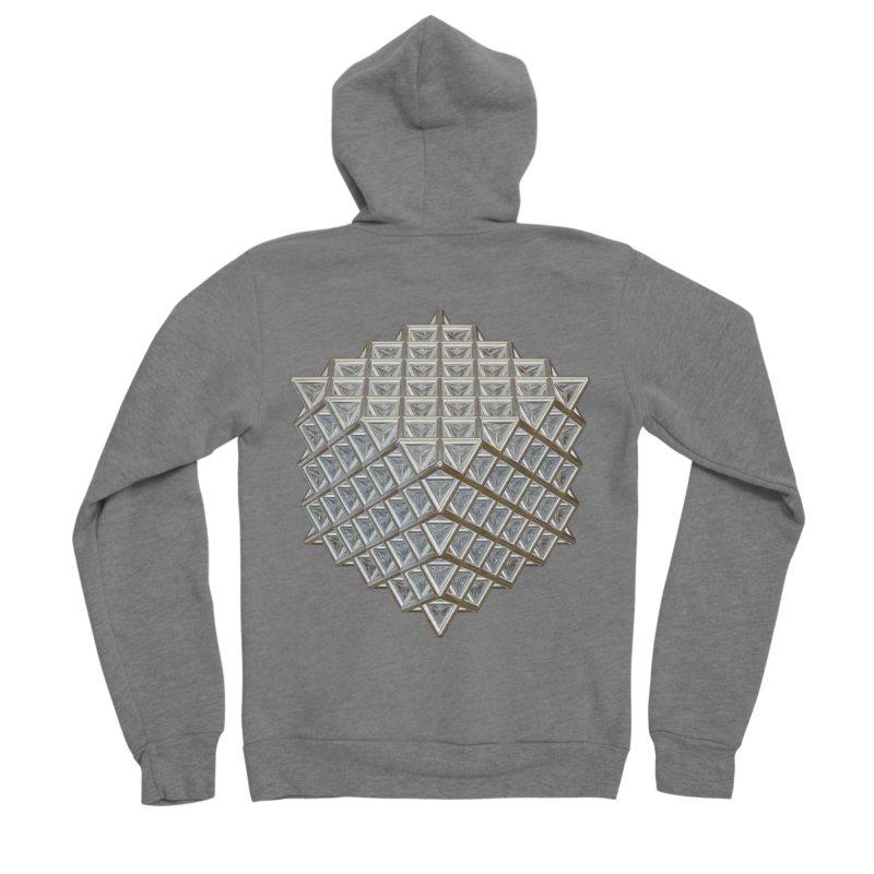 512 Tetrahedron Silver Men's Sponge Fleece Zip-Up Hoody by diamondheart's Artist Shop