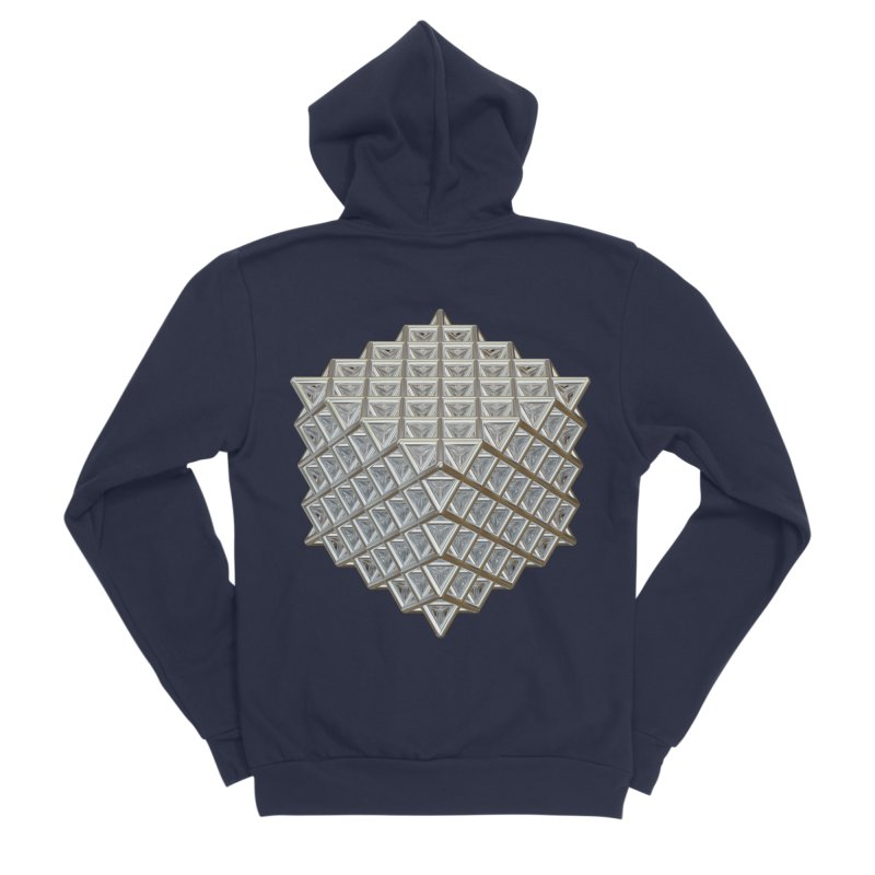 512 Tetrahedron Silver Women's Sponge Fleece Zip-Up Hoody by diamondheart's Artist Shop