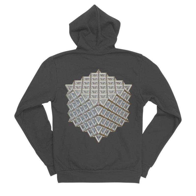 512 Tetrahedron Silver Women's Sponge Fleece Zip-Up Hoody by diamondheart's Artist Shop