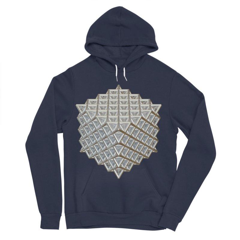 512 Tetrahedron Silver Women's Sponge Fleece Pullover Hoody by diamondheart's Artist Shop