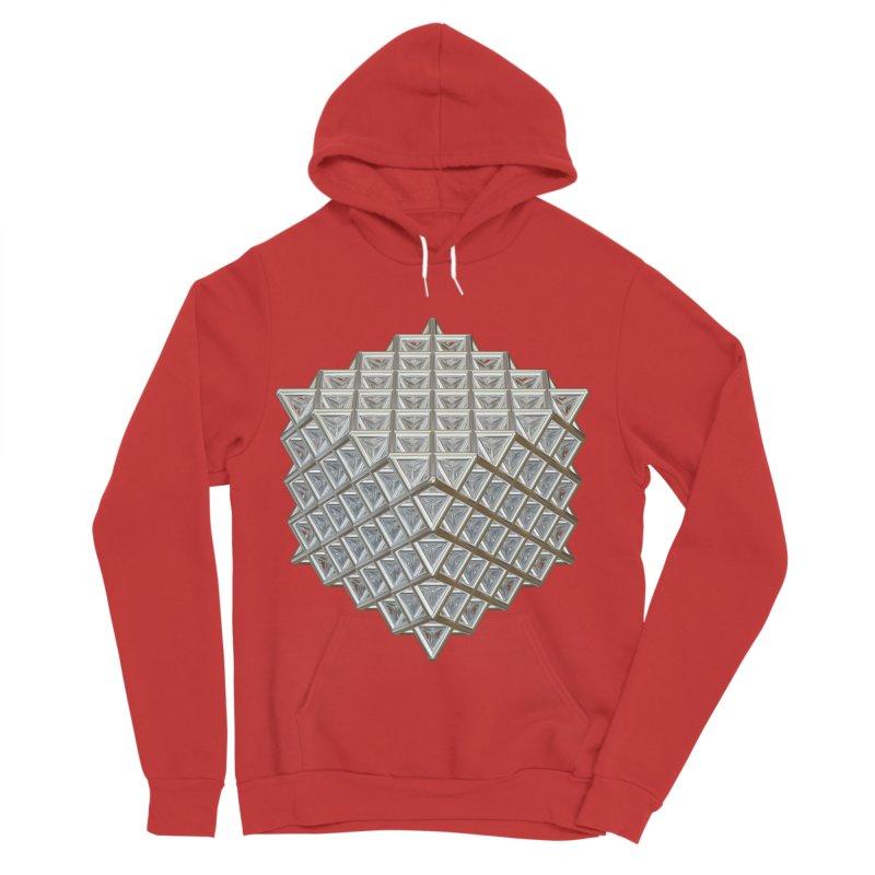 512 Tetrahedron Silver Men's Sponge Fleece Pullover Hoody by diamondheart's Artist Shop