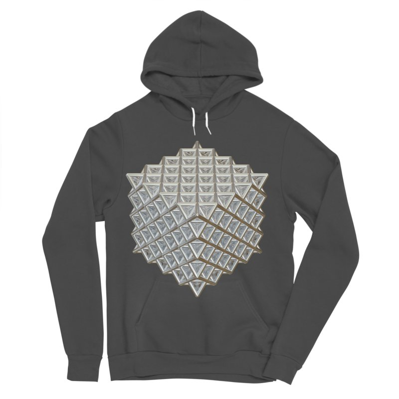 512 Tetrahedron Silver Men's Sponge Fleece Pullover Hoody by diamondheart's Artist Shop