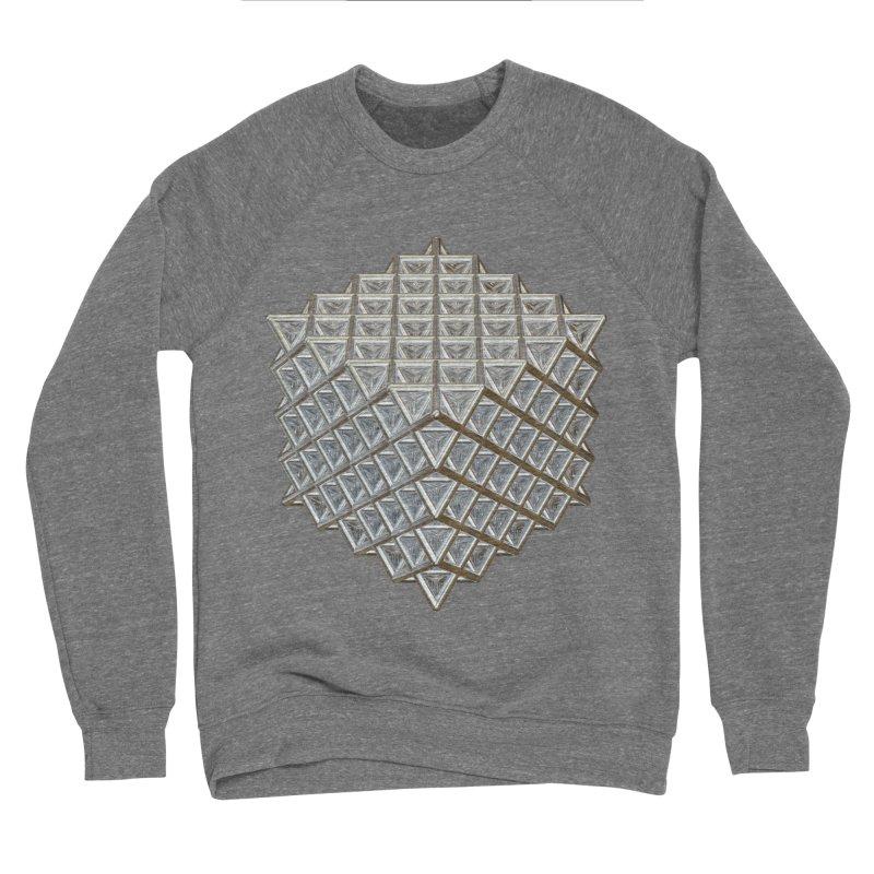 512 Tetrahedron Silver Women's Sponge Fleece Sweatshirt by diamondheart's Artist Shop