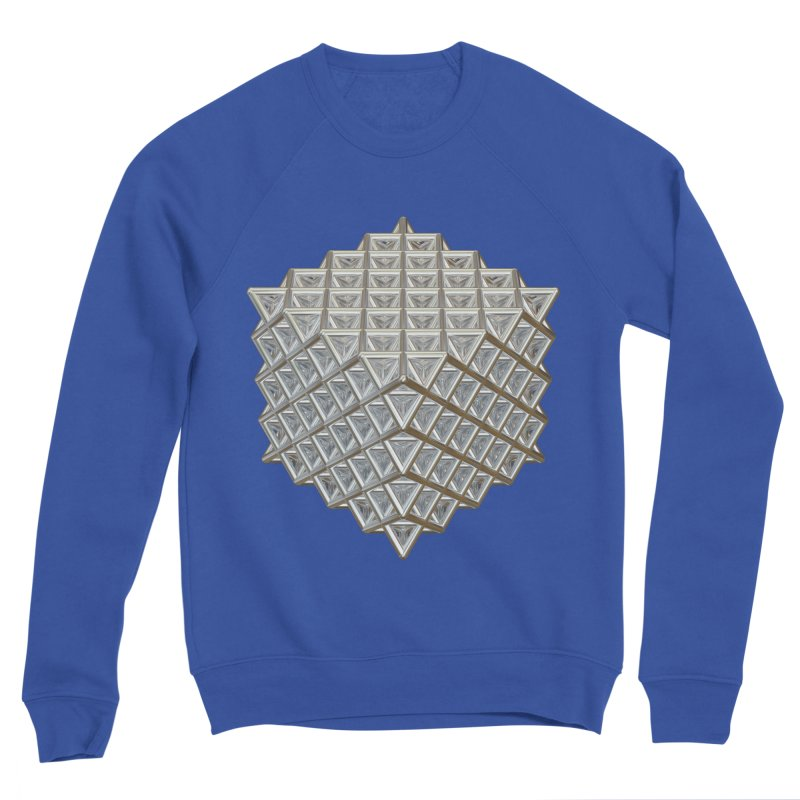 512 Tetrahedron Silver Men's Sponge Fleece Sweatshirt by diamondheart's Artist Shop