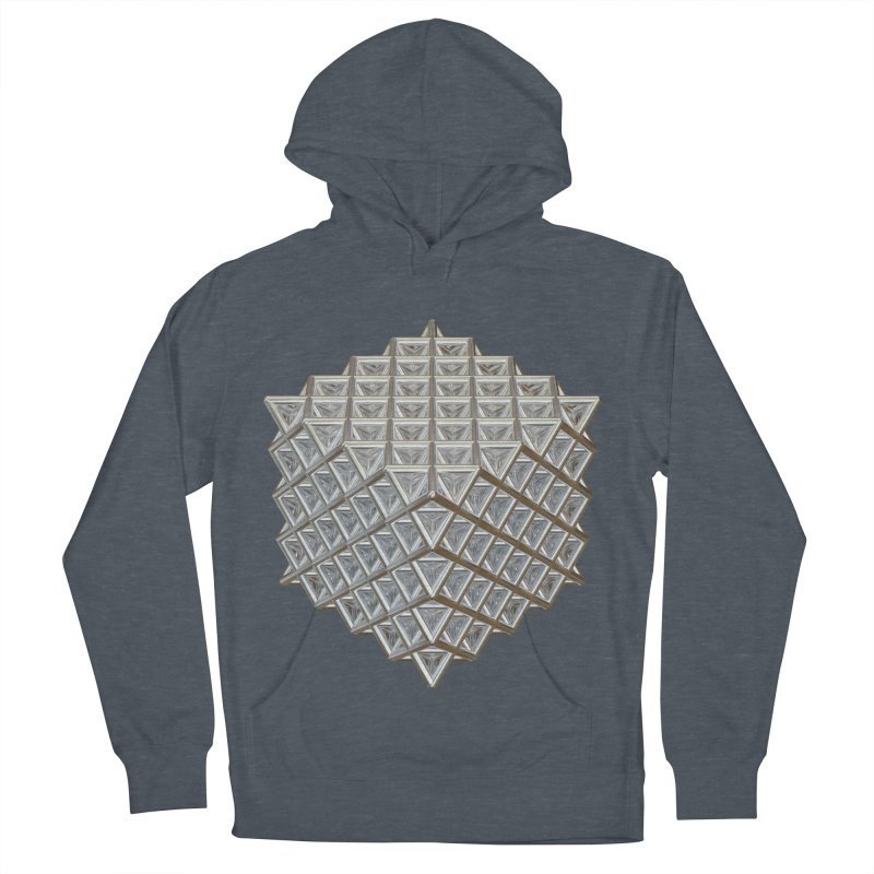 512 Tetrahedron Silver Women's French Terry Pullover Hoody by diamondheart's Artist Shop