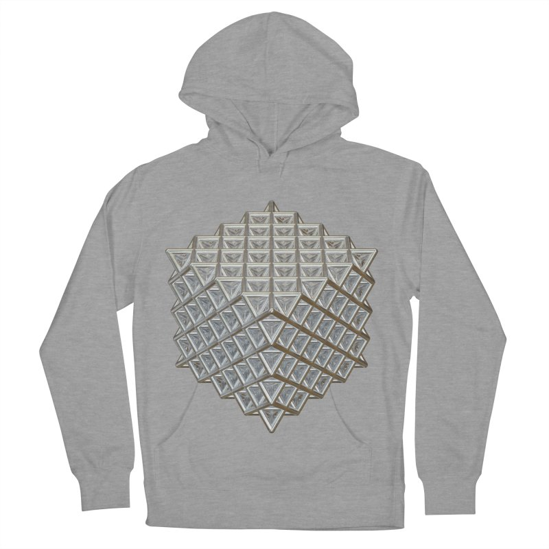512 Tetrahedron Silver Men's French Terry Pullover Hoody by diamondheart's Artist Shop