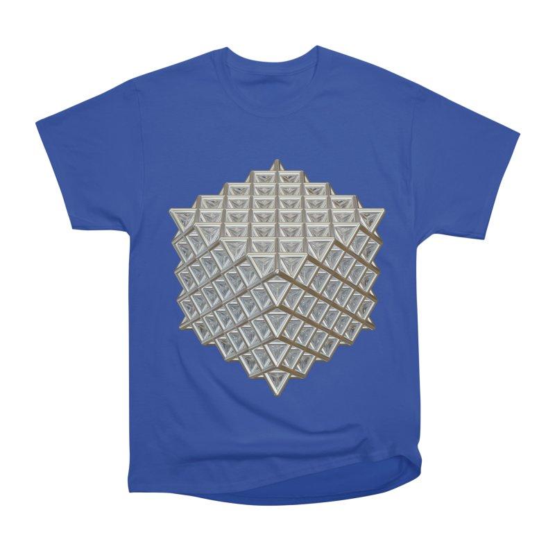512 Tetrahedron Silver Women's Heavyweight Unisex T-Shirt by diamondheart's Artist Shop