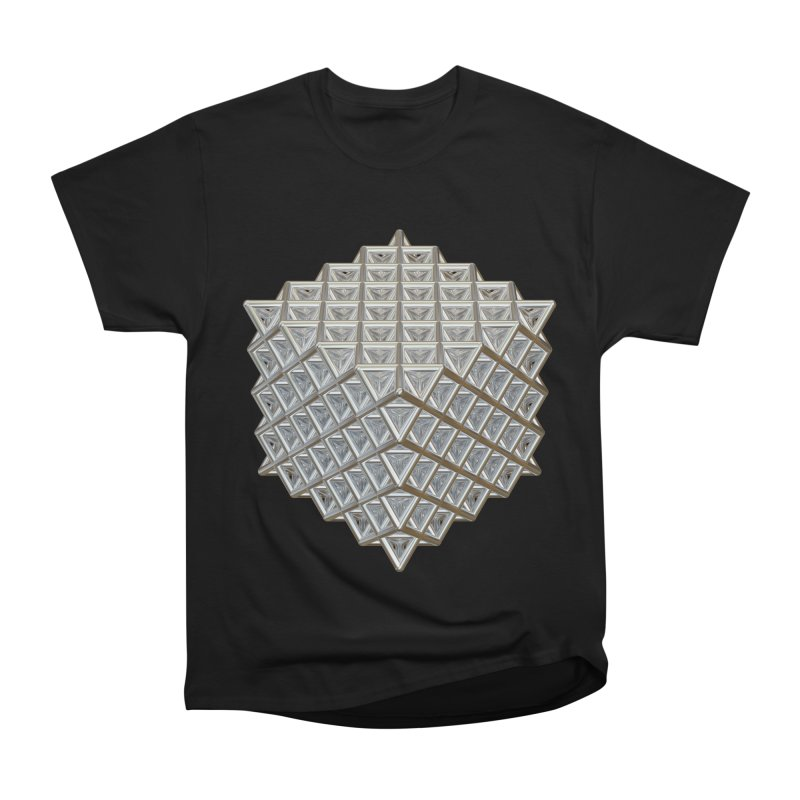 512 Tetrahedron Silver Men's Heavyweight T-Shirt by diamondheart's Artist Shop