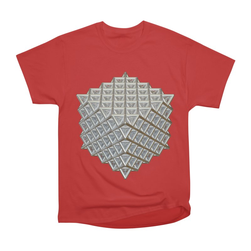 512 Tetrahedron Silver Women's Heavyweight Unisex T-Shirt by diamondheart's Artist Shop