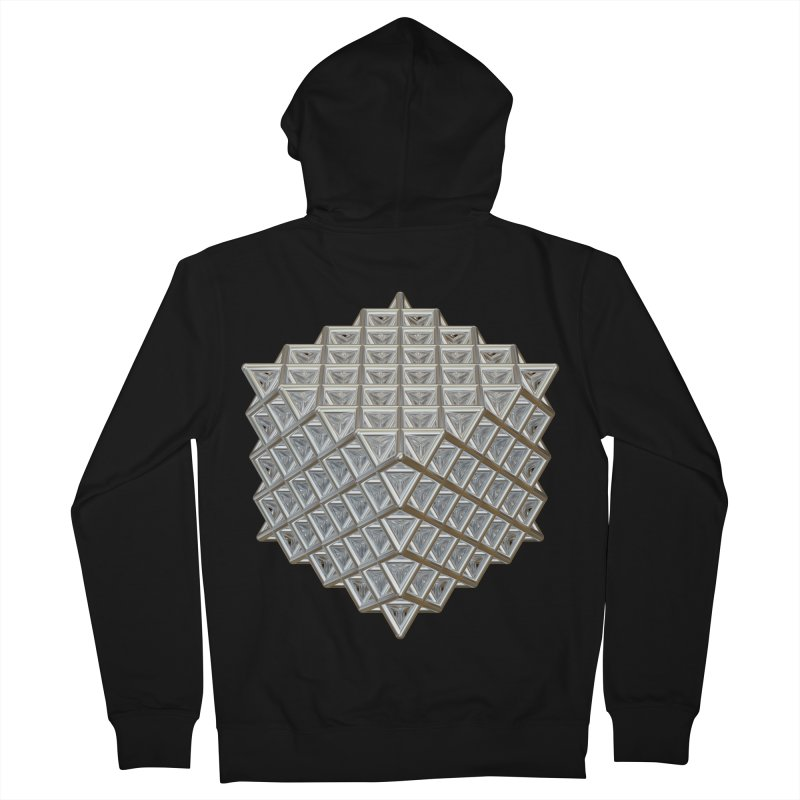 512 Tetrahedron Silver Women's French Terry Zip-Up Hoody by diamondheart's Artist Shop