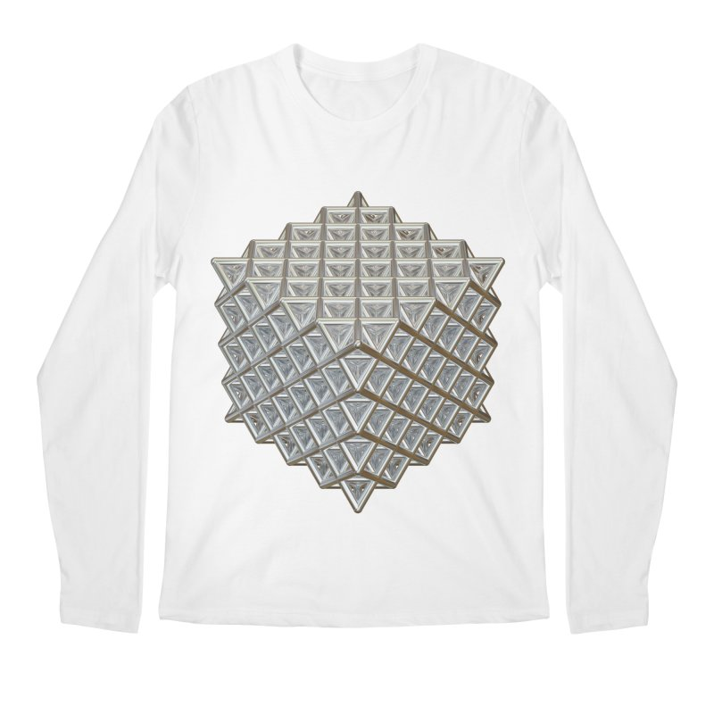 512 Tetrahedron Silver Men's Regular Longsleeve T-Shirt by diamondheart's Artist Shop