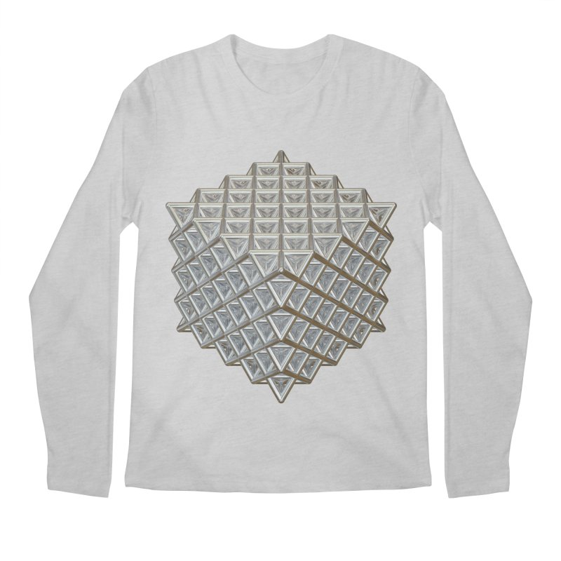 512 Tetrahedron Silver Men's Regular Longsleeve T-Shirt by diamondheart's Artist Shop