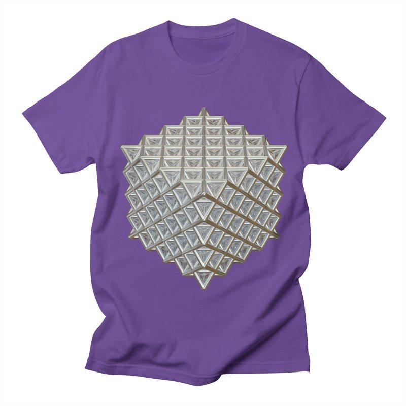 512 Tetrahedron Silver Men's Regular T-Shirt by diamondheart's Artist Shop