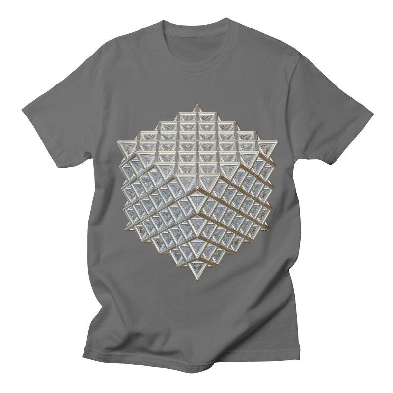 512 Tetrahedron Silver Men's T-Shirt by diamondheart's Artist Shop