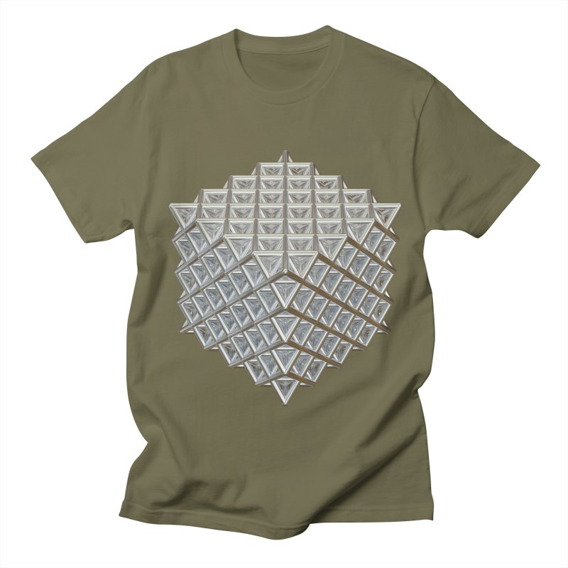 512 Tetrahedron Silver Men's Regular T-Shirt by diamondheart's Artist Shop