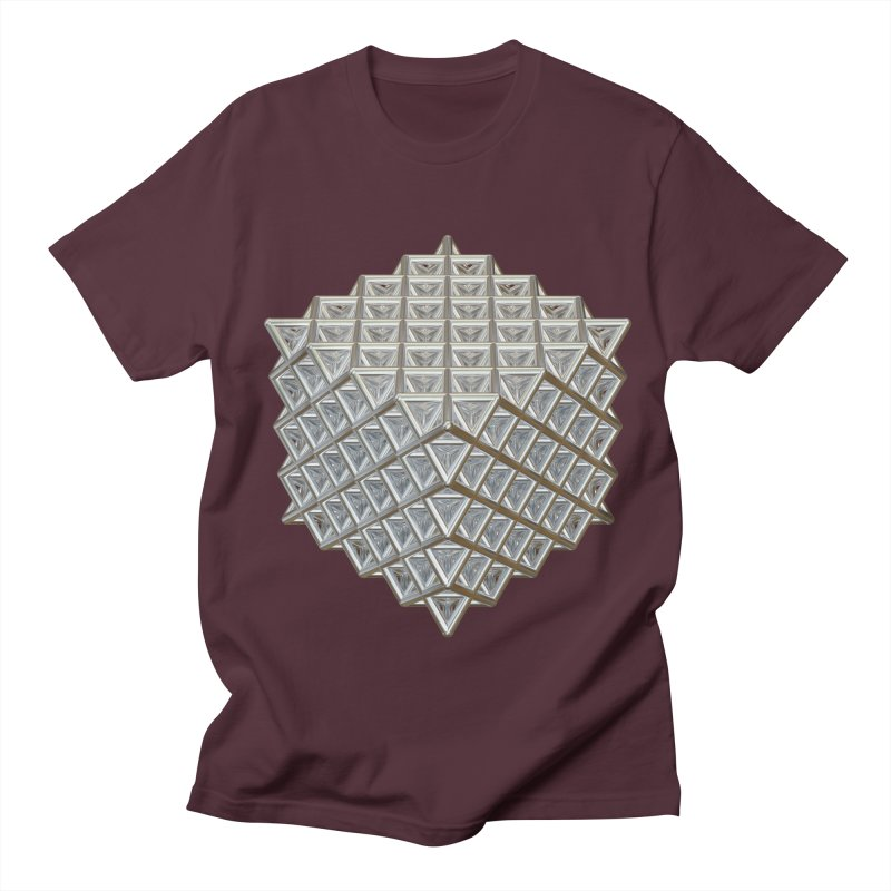 512 Tetrahedron Silver Women's Regular Unisex T-Shirt by diamondheart's Artist Shop