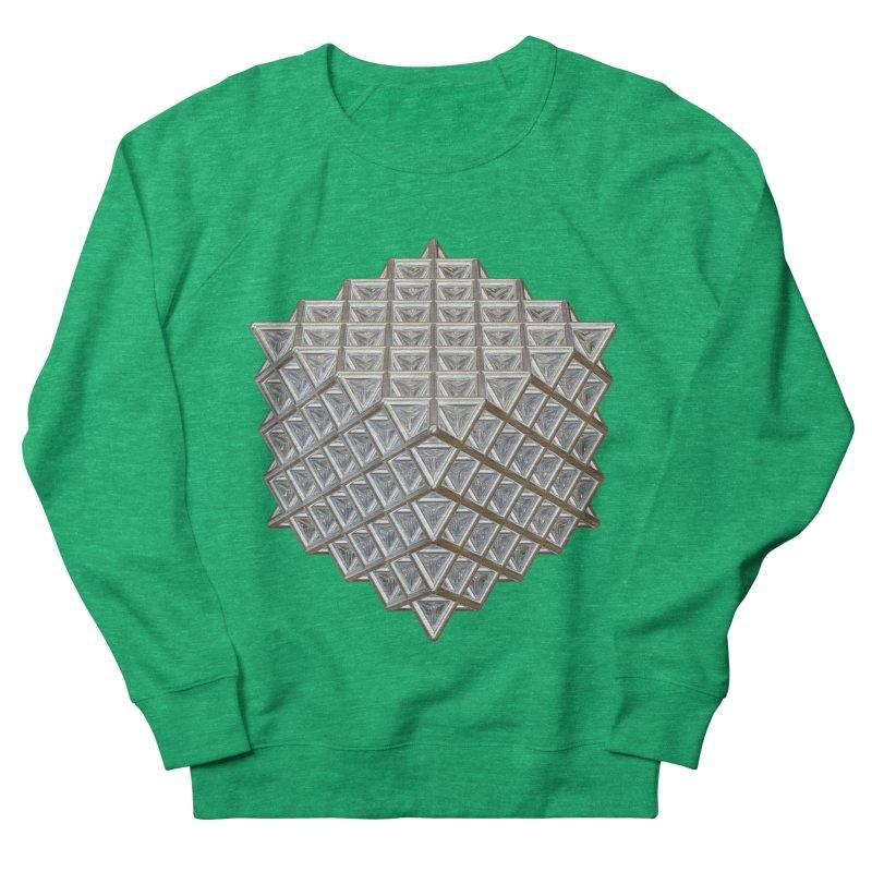 512 Tetrahedron Silver Women's French Terry Sweatshirt by diamondheart's Artist Shop