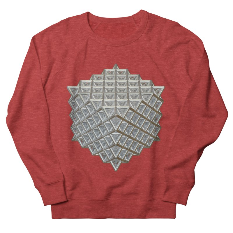 512 Tetrahedron Silver Women's French Terry Sweatshirt by diamondheart's Artist Shop