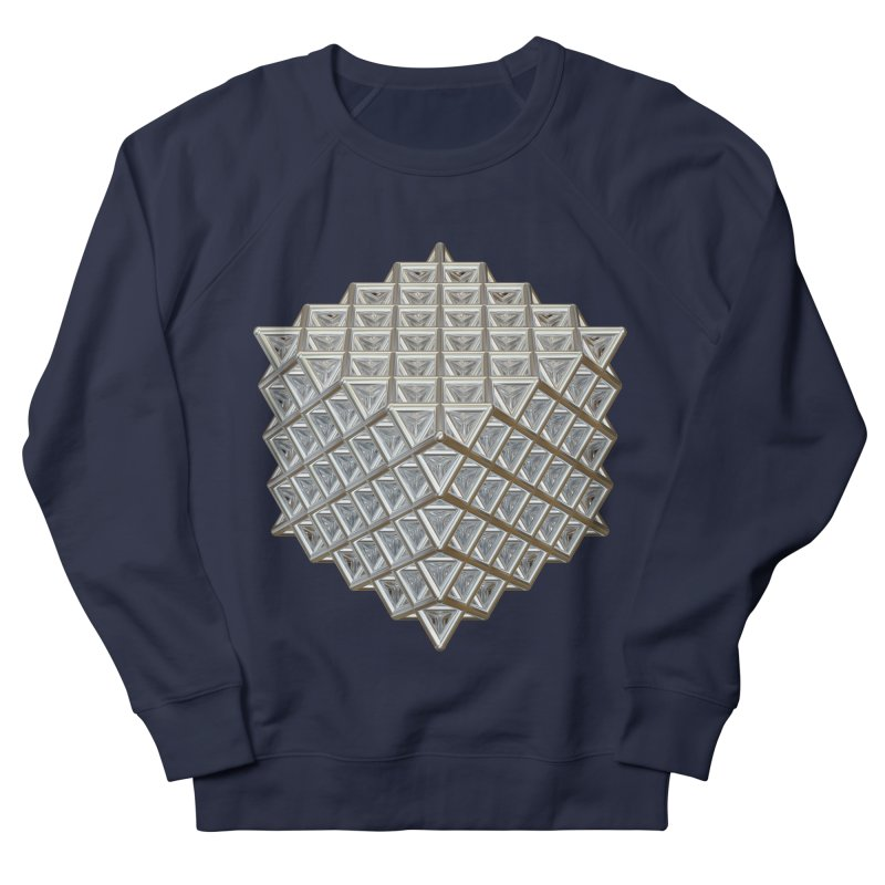 512 Tetrahedron Silver Men's French Terry Sweatshirt by diamondheart's Artist Shop
