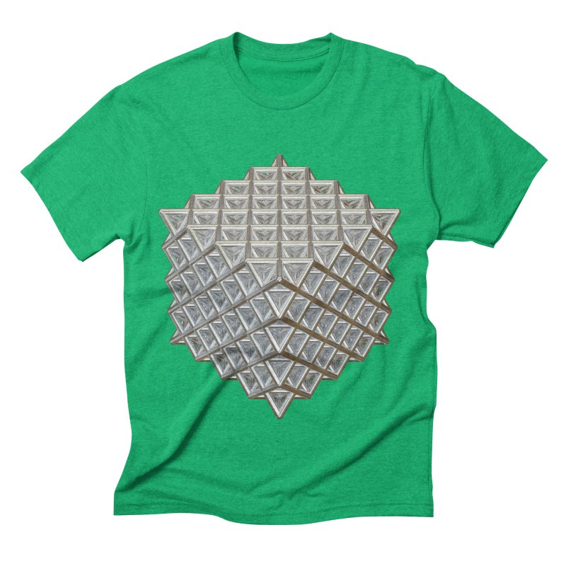 512 Tetrahedron Silver Men's Triblend T-Shirt by diamondheart's Artist Shop