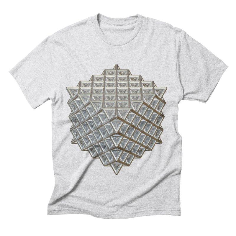 512 Tetrahedron Silver Men's Triblend T-Shirt by diamondheart's Artist Shop