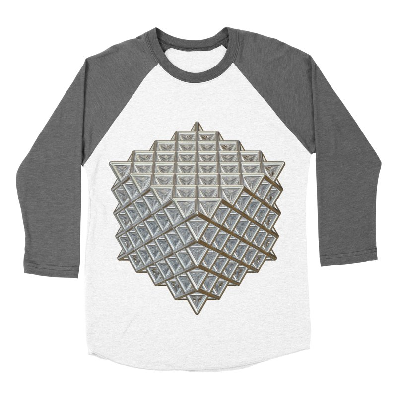512 Tetrahedron Silver Women's Baseball Triblend Longsleeve T-Shirt by diamondheart's Artist Shop