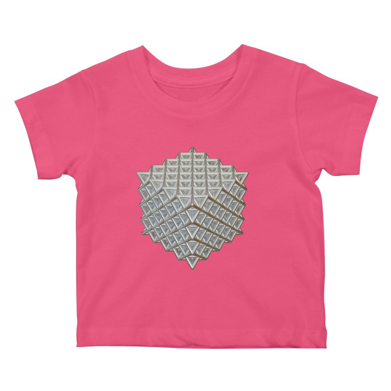 512 Tetrahedron Silver Kids Baby T-Shirt by diamondheart's Artist Shop