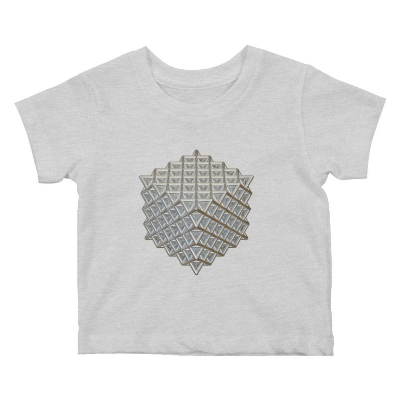 512 Tetrahedron Silver Kids Baby T-Shirt by diamondheart's Artist Shop