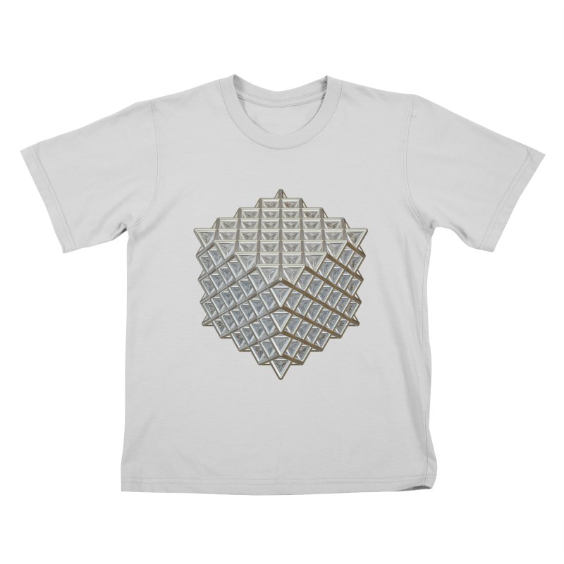 512 Tetrahedron Silver Kids T-Shirt by diamondheart's Artist Shop
