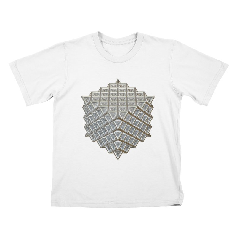 512 Tetrahedron Silver Kids T-Shirt by diamondheart's Artist Shop