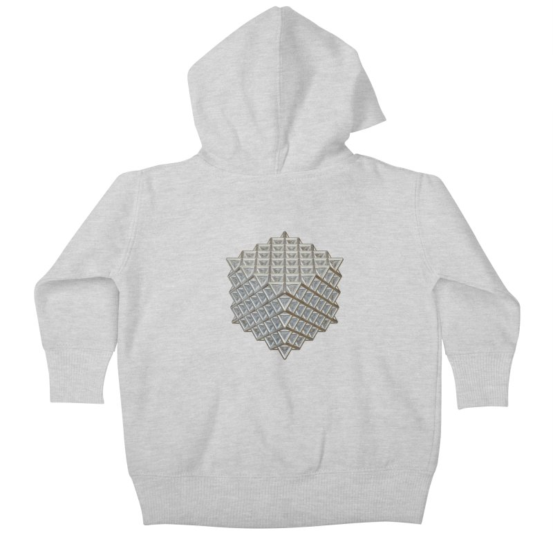 512 Tetrahedron Silver Kids Baby Zip-Up Hoody by diamondheart's Artist Shop