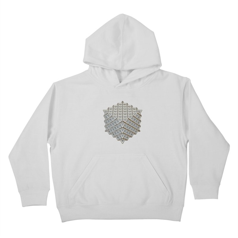 512 Tetrahedron Silver Kids Pullover Hoody by diamondheart's Artist Shop
