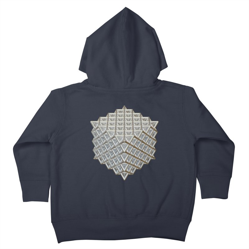 512 Tetrahedron Silver Kids Toddler Zip-Up Hoody by diamondheart's Artist Shop