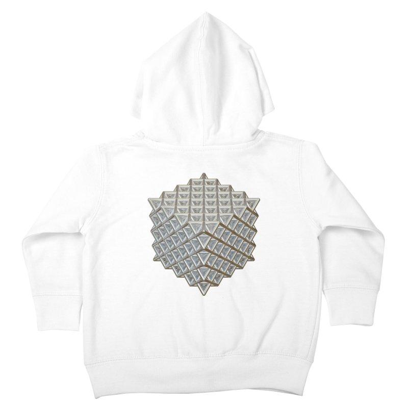 512 Tetrahedron Silver Kids Toddler Zip-Up Hoody by diamondheart's Artist Shop