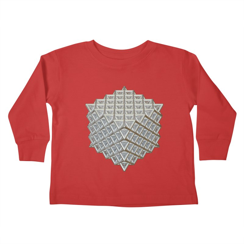 512 Tetrahedron Silver Kids Toddler Longsleeve T-Shirt by diamondheart's Artist Shop