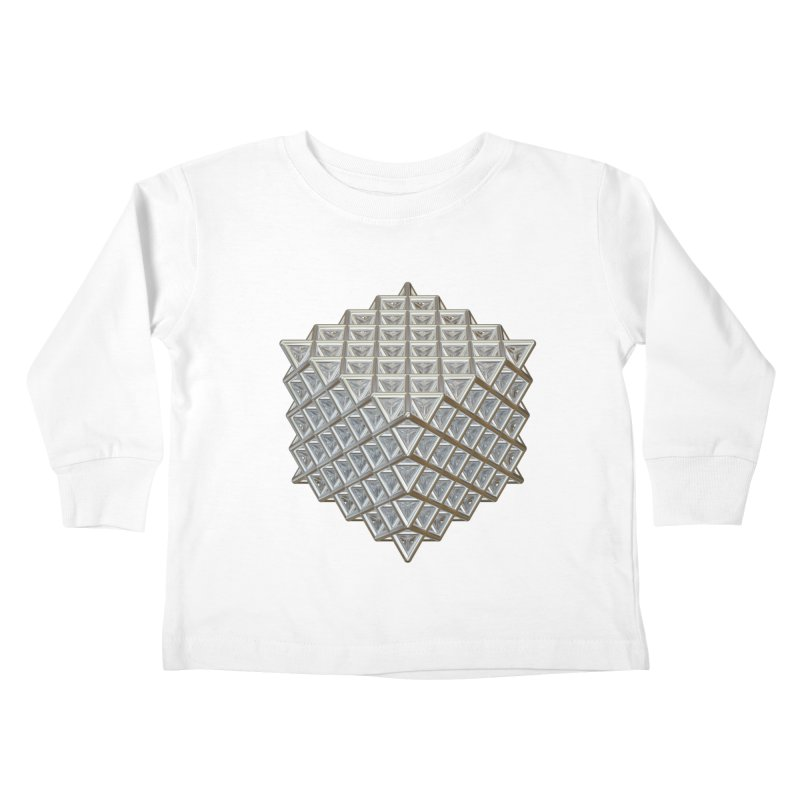 512 Tetrahedron Silver Kids Toddler Longsleeve T-Shirt by diamondheart's Artist Shop