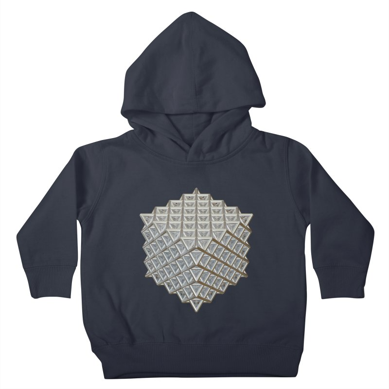 512 Tetrahedron Silver Kids Toddler Pullover Hoody by diamondheart's Artist Shop