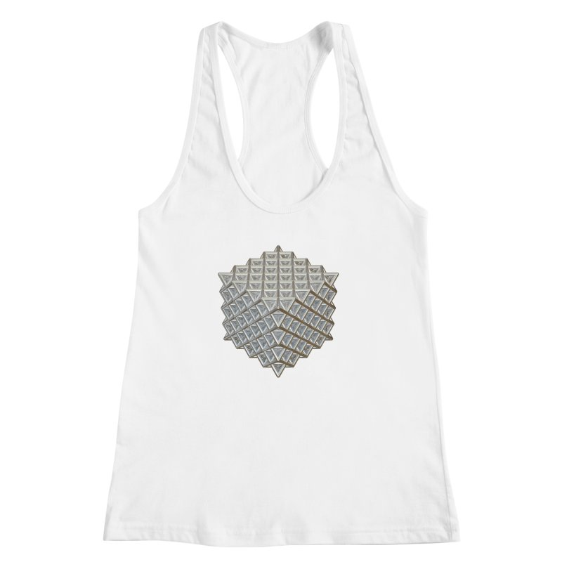 512 Tetrahedron Silver Women's Racerback Tank by diamondheart's Artist Shop